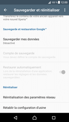 Sony Xperia XZ (F8331) - Android Nougat - Appareil - Réinitialisation de la configuration d