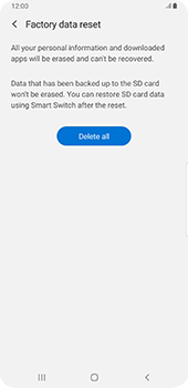 Samsung galaxy-s9-plus-android-pie - Device - Factory reset - Step 9