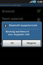 Samsung S5660 Galaxy Gio - Bluetooth - koppelen met ander apparaat - Stap 10