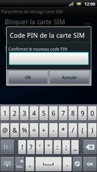 Sony Ericsson Xpéria Arc - Sécuriser votre mobile - Personnaliser le code PIN de votre carte SIM - Étape 9