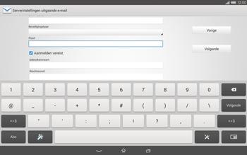 Sony Xperia Tablet Z2 (SGP521) - E-mail - e-mail instellen: POP3 - Stap 13
