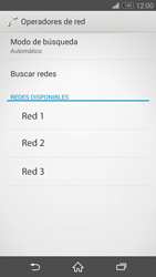 Sony Xperia Z3 - Red - Seleccionar una red - Paso 8