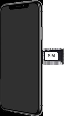 Apple iPhone X - Premiers pas - Insérer la carte SIM - Étape 4