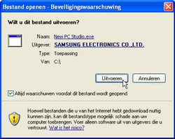 Samsung B7610 Omnia Qwerty - Software - PC-software installeren - Stap 13