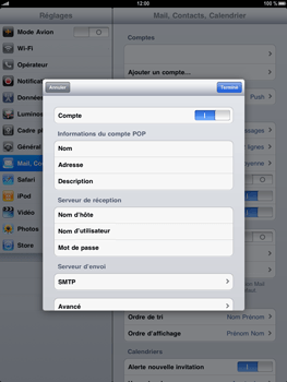 Apple iPad - E-mail - Configuration manuelle - Étape 10