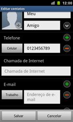 Samsung Galaxy S II - Contatos - Como criar ou editar um contato - Etapa 11