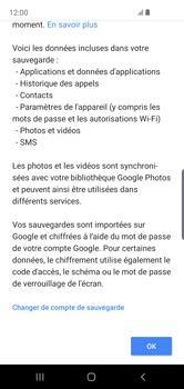 Samsung Galaxy S10e - Données - créer une sauvegarde avec votre compte - Étape 10