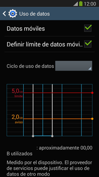 Samsung Galaxy Note 3 - Internet - Ver uso de datos - Paso 10