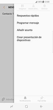 Samsung Galaxy S8 - Mensajería - Escribir y enviar un mensaje multimedia - Paso 9