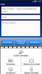 Sony Ericsson Xperia X10 - E-mail - Hoe te versturen - Stap 9