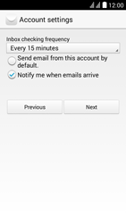 Huawei Y625 - E-mail - Manual configuration - Step 17
