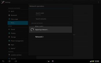 Sony SGP321 Xperia Tablet Z LTE - Network - Usage across the border - Step 9