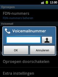 Samsung S5300 Galaxy Pocket - Voicemail - handmatig instellen - Stap 6