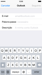 Apple iPhone 5s iOS 8 - Email - Adicionar conta de email -  6