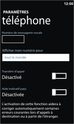 Nokia Lumia 710 - Messagerie vocale - configuration manuelle - Étape 9
