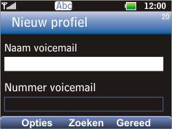 LG C360 Golf - Voicemail - Handmatig instellen - Stap 7