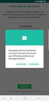 Samsung Galaxy S9 Plus - Aplicações - Como configurar o WhatsApp -  11