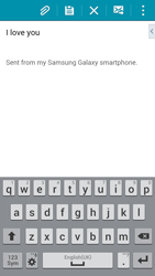 Samsung G850F Galaxy Alpha - E-mail - Sending emails - Step 10