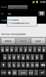 Samsung I8160 Galaxy Ace II - Email - Sending an email message - Step 6