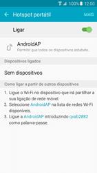 Samsung Galaxy S6 Edge - Internet no telemóvel - Como partilhar os dados móveis -  11