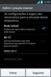 LG E612 Optimus L5 - Primeiros passos - Como ativar seu aparelho - Etapa 3
