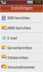 Samsung S5230 Star - SMS - handmatig instellen - Stap 5