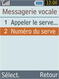 Samsung B2100 Xplorer - Messagerie vocale - Configuration manuelle - Étape 6