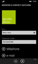Nokia Lumia 530 - Contact, Appels, SMS/MMS - Ajouter un contact - Étape 8