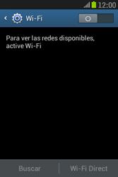 Samsung S6310 Galaxy Young - WiFi - Conectarse a una red WiFi - Paso 5