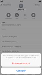 Apple iPhone 7 iOS 11 - Chamadas - Bloquear chamadas de um número -  6