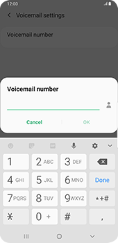 Samsung galaxy-s9-plus-android-pie - Voicemail - Manual configuration - Step 9