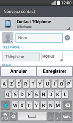LG F70 - Contact, Appels, SMS/MMS - Ajouter un contact - Étape 5