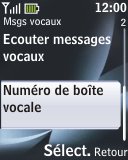 Nokia 2330 classic - Messagerie vocale - configuration manuelle - Étape 6