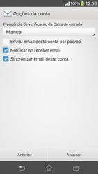 Sony C5303 Xperia SP - Email - Como configurar seu celular para receber e enviar e-mails - Etapa 17