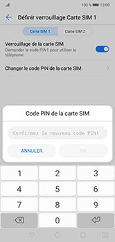 Huawei P20 lite - Sécuriser votre mobile - Personnaliser le code PIN de votre carte SIM - Étape 11
