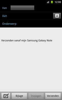 Samsung N7000 Galaxy Note - E-mail - hoe te versturen - Stap 5