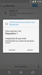 Sony Xperia Z1 - Bluetooth - Conectar dispositivos a través de Bluetooth - Paso 7