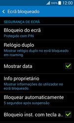 Samsung Galaxy Core II - Segurança - Como ativar o código de bloqueio do ecrã -  11