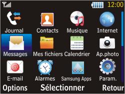 Samsung S3570 Chat 357 - SMS - configuration manuelle - Étape 3