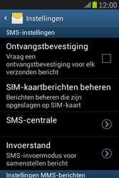 Samsung S6310 Galaxy Young - SMS - Handmatig instellen - Stap 6