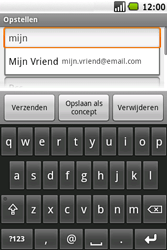 Samsung I5700 Galaxy Spica - E-mail - E-mails verzenden - Stap 7