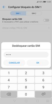 Huawei P Smart - Segurança - Como ativar o código PIN do cartão de telemóvel -  9
