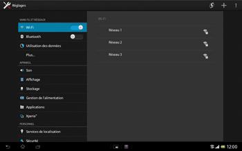 Sony SGP321 Xperia Tablet Z LTE - Wifi - configuration manuelle - Étape 4