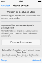 Apple iPhone 4 S - iOS 7 - apps - account instellen - stap 10