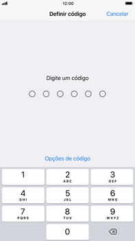 Apple iPhone 7 Plus iOS 11 - Segurança - Como ativar o código de bloqueio do ecrã -  5