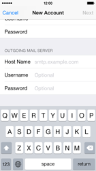 Apple iPhone 5s - iOS 8 - E-mail - Manual configuration - Step 13