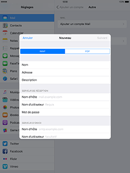 Apple iPad mini Retina iOS 10 - E-mail - Configuration manuelle - Étape 12