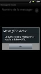 Sony Ericsson Xperia Neo - Messagerie vocale - configuration manuelle - Étape 9