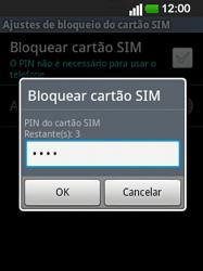 LG E400 - Segurança - Como ativar o código PIN do cartão de telemóvel -  9