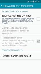 Samsung Galaxy A3 (A300FU) - Aller plus loin - Restaurer les paramètres d'usines - Étape 5